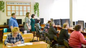 Участники регионального этапа VII-го Всероссийского чемпионата по компьютерному многоборью среди пенсионеров