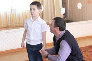Семья Косоноговых: папа Андрей Иванович с сыном Матвеем